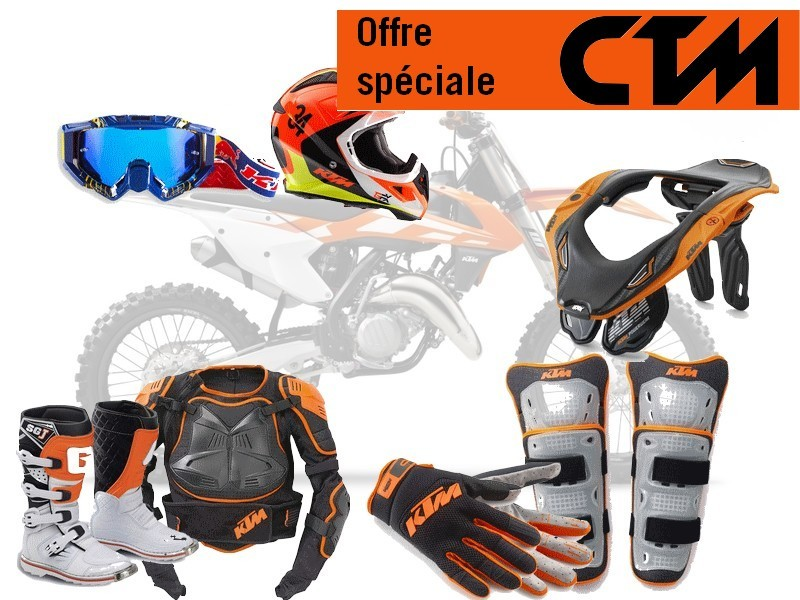 equipement tt promo cross enduro