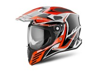 AIROH CASQUE COMMANDER CARBON ORANGE GLOSS