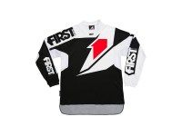 FIRSTRACING- MAILLOT SCAN BLANC/NOIR